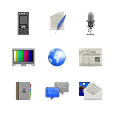 Free Communication Icons Stock Images - 20557014