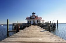 Free Lighthouse With Boardwalk Stock Photos - 20557113