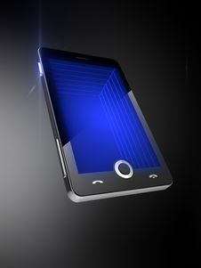 Free Mobile Phone 3D Screen Royalty Free Stock Photography - 20557157