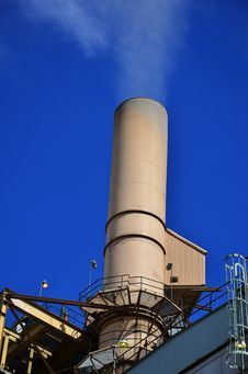 Smokestack Of A Coal Power Plant Royalty Free Stock Image