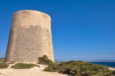 Tower At Ibiza Royalty Free Stock Photo