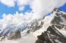 Free Top Of High Mountains, Covered By Snow. Stock Photography - 20557592