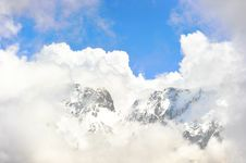 Free Top Of High Mountains, Covered By Snow. Stock Photo - 20557670