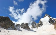 Free Top Of High Mountains, Covered By Snow. Royalty Free Stock Image - 20557686