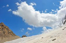 Free Top Of High Mountains, Covered By Snow. Stock Photo - 20557780