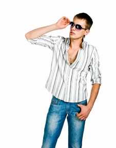 Young Man In Sunglasses Stock Images