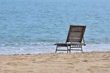 Free Rest Chair On Sea Sand Stock Photography - 20557962