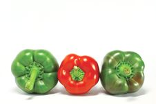 Free Fresh Green Pepper Royalty Free Stock Photos - 20558078