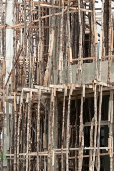 Free Traditional Wooden Scaffolding Royalty Free Stock Photos - 20559088