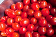 Free Fresh Washed Cherry Tomatoes Stock Image - 20559241