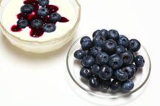 Free Blueberry With Yogurt Stock Images - 20559414