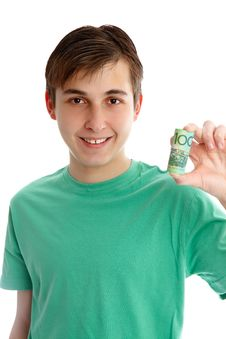 Free Boy Holding Money Royalty Free Stock Photos - 20559458