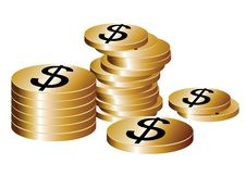 Free Gold Coins Royalty Free Stock Photos - 20559638