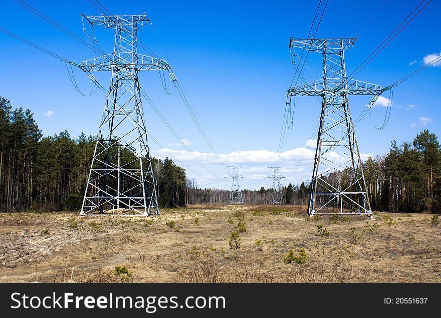 High-voltage lines