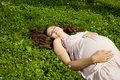 Free Beautiful Pregnant Woman Relaxing In The Park Royalty Free Stock Images - 20568529