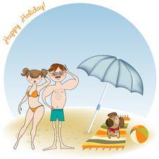 Free Happy Couple On The Beach Stock Photos - 20560223