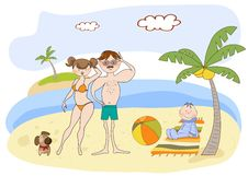 Free Happy Family On The Beach Stock Images - 20560244