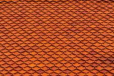 Free Tiled On Temple Roof Royalty Free Stock Photo - 20560475