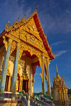 Free Buddhist Church On Koh Samui Royalty Free Stock Photography - 20560787