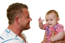 Free Smiling Father And Baby Stock Images - 20560834