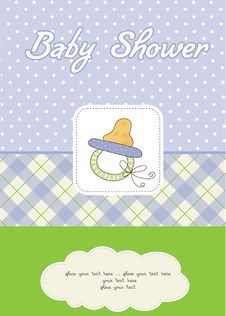 Free Baby Shower Card With Pacifier Stock Images - 20560894