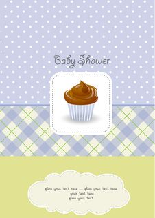 Free Baby Boy Shower Card Royalty Free Stock Image - 20560946