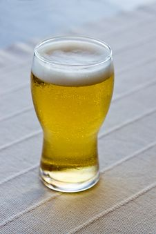Free Glass Of Beer On Table Stock Photos - 20560963