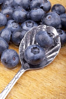Free Blueberries On A Spoon Royalty Free Stock Photos - 20561008
