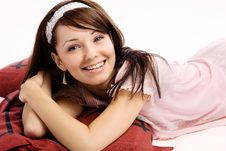Free Closeup Portrait Of A Happy Young Lady Stock Photo - 20561480