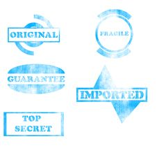 Free Blue Stamps Collection Royalty Free Stock Images - 20561519