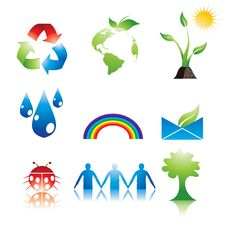 Eco Icons Stock Photo
