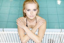 Free Beautiful Young Woman  In A Swimming Pool Royalty Free Stock Photography - 20561977