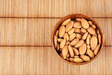 Almonds In A Bowl Royalty Free Stock Images