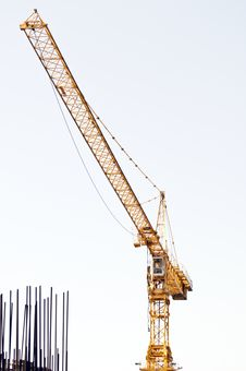Free Yellow Crane And Armature Royalty Free Stock Image - 20562546
