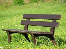 Free Bench On Grass Stock Photo - 20562650