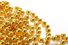 Golden Color Beads Royalty Free Stock Images