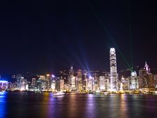 Hong Kong Symphony Of Lights Royalty Free Stock Images