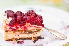 Free Piece Of Berry Pie On Saucer Stock Photos - 20563903