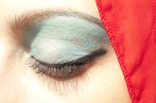 Free Blue Eye Make Up Stock Photo - 20564100