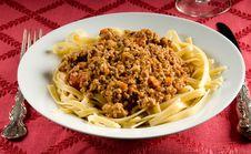 Free Fettuccine Bolognese Stock Image - 20564191