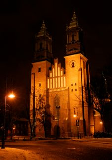 Free Towers Of Cathedral Church At Night Stock Photography - 20564342