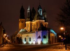 Free Towers Of Cathedral Church At Night Stock Photo - 20564390