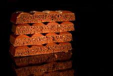 Free Black Aerated Chocolate Royalty Free Stock Image - 20565236