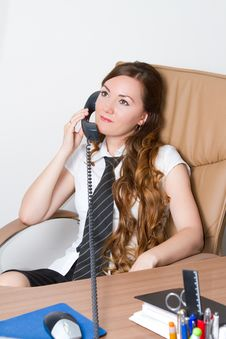 Free Beautiful Business Woman Talking On The Phone Royalty Free Stock Photos - 20565248