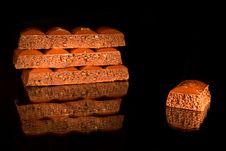 Free Black Aerated Chocolate Royalty Free Stock Image - 20565266