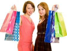 Free Girls With Shopping Royalty Free Stock Image - 20565446