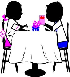 Free Boy And Girl At Table Stock Photos - 20565493