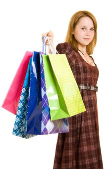 Free Girl With Shopping Stock Photo - 20565660