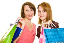 Free Girls With Shopping Royalty Free Stock Image - 20565726