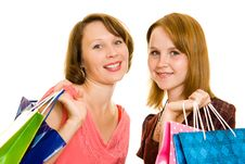 Free Girls With Shopping Stock Photo - 20565740